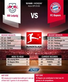 RB Leipzig vs Bayern Munich 19/03/18