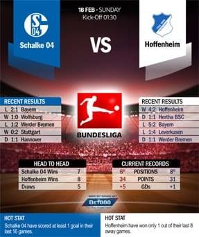 Schalke vs Hoffenheim 18/2/2018