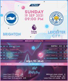 Brighton & Hove Albion vs Leicester City